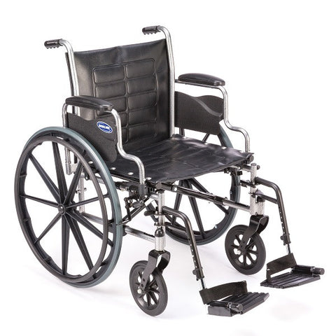 Invacare Manual Folding Wheelchair with Removable Footrests
