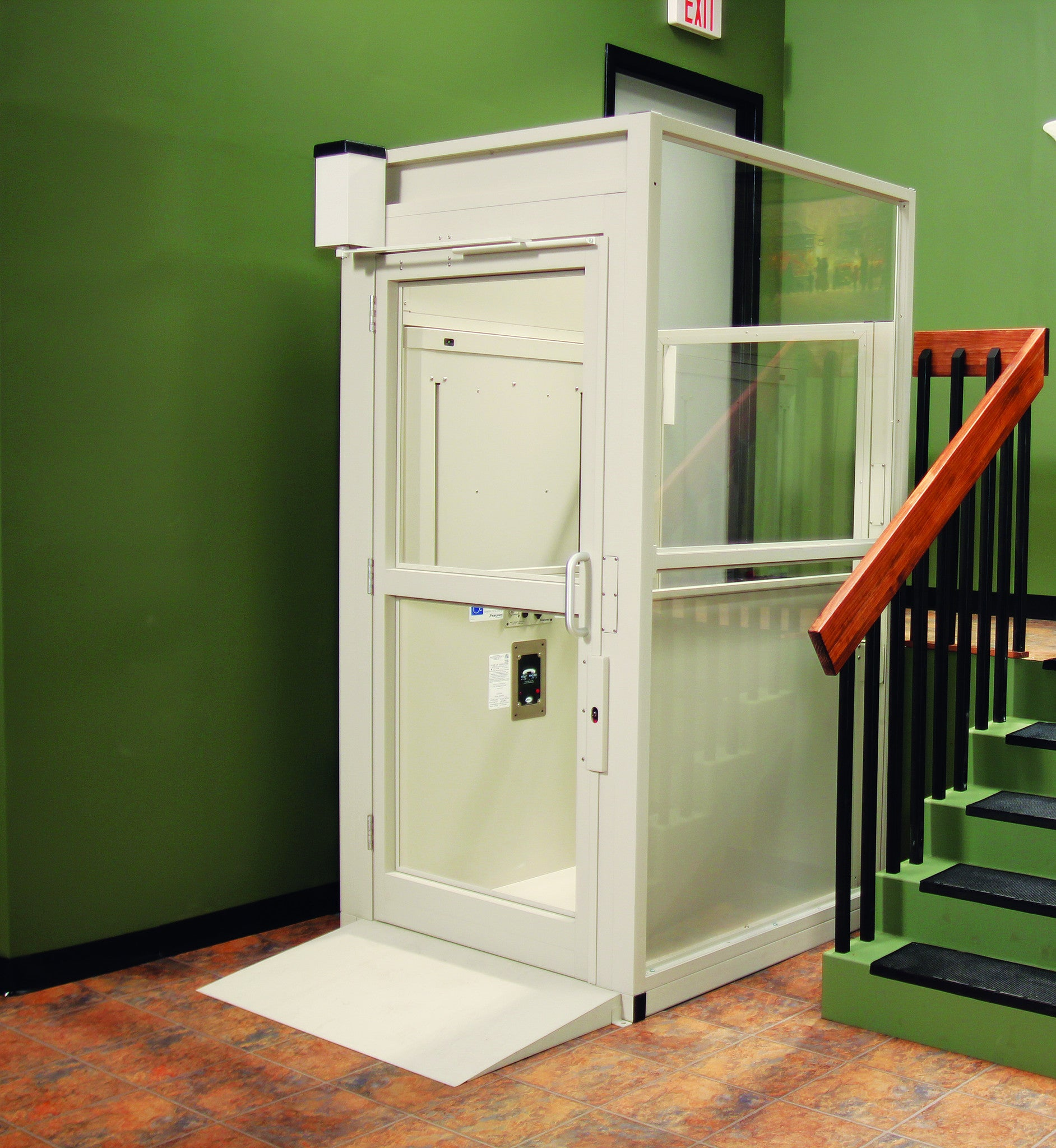 Bruno Commercial Vertical Wheelchair Platform Lift – Safe Home Pro