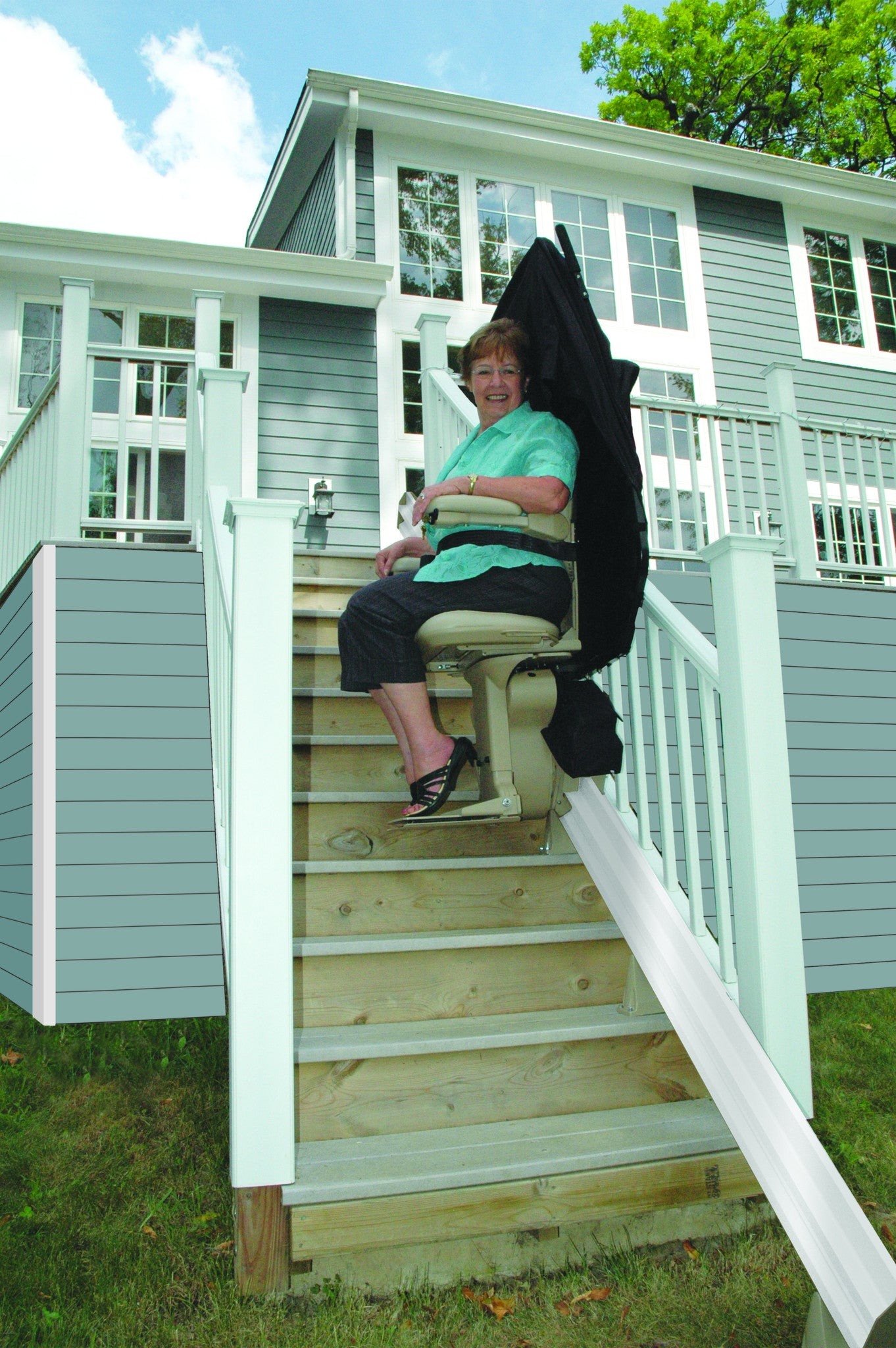 Bruno Elite Outdoor Straight Stair Lift – Safe Home Pro