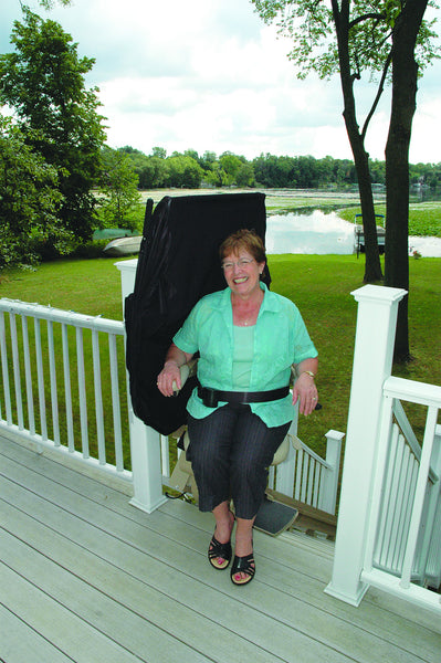 Bruno Elite Outdoor Straight Stair Lift Safe Home Pro
