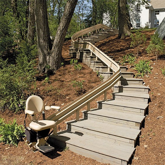 Bruno Elite Outdoor Curve Stair Lift Safe Home Pro