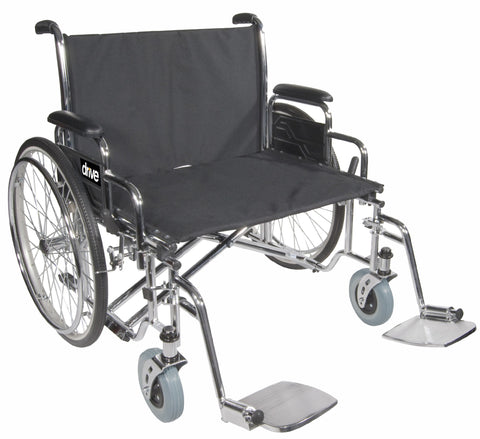Drive Medical Sentra Extra Wide Heavy Duty Wheelchair 700 lb Capacity