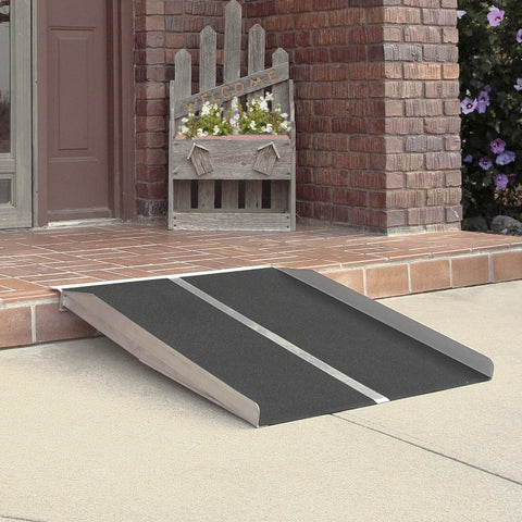 "PVI Solid Wheelchair Aluminum Ramp (30"" & 36"") - 800 lbs capacity"