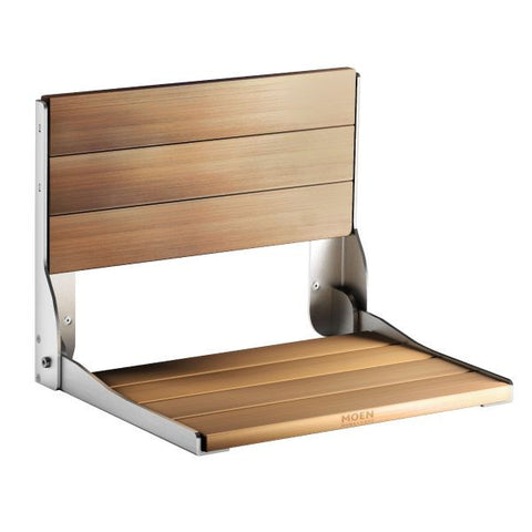 Moen Home Care Teak Folding Shower Seat