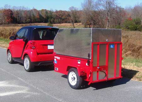 Scoota Trailer - Towable even for Small Cars! Use with all Mobility Devices