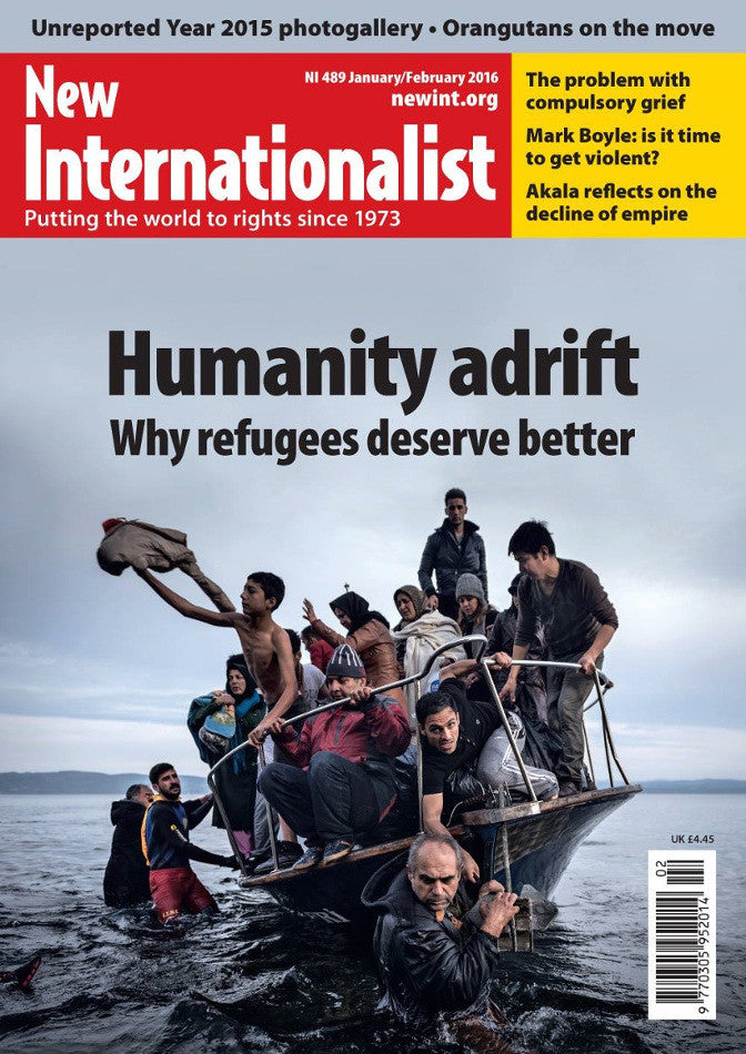 Humanity Adrift - NI 489 - Jan / Febuary 2016 - New Internationalist New Zealand