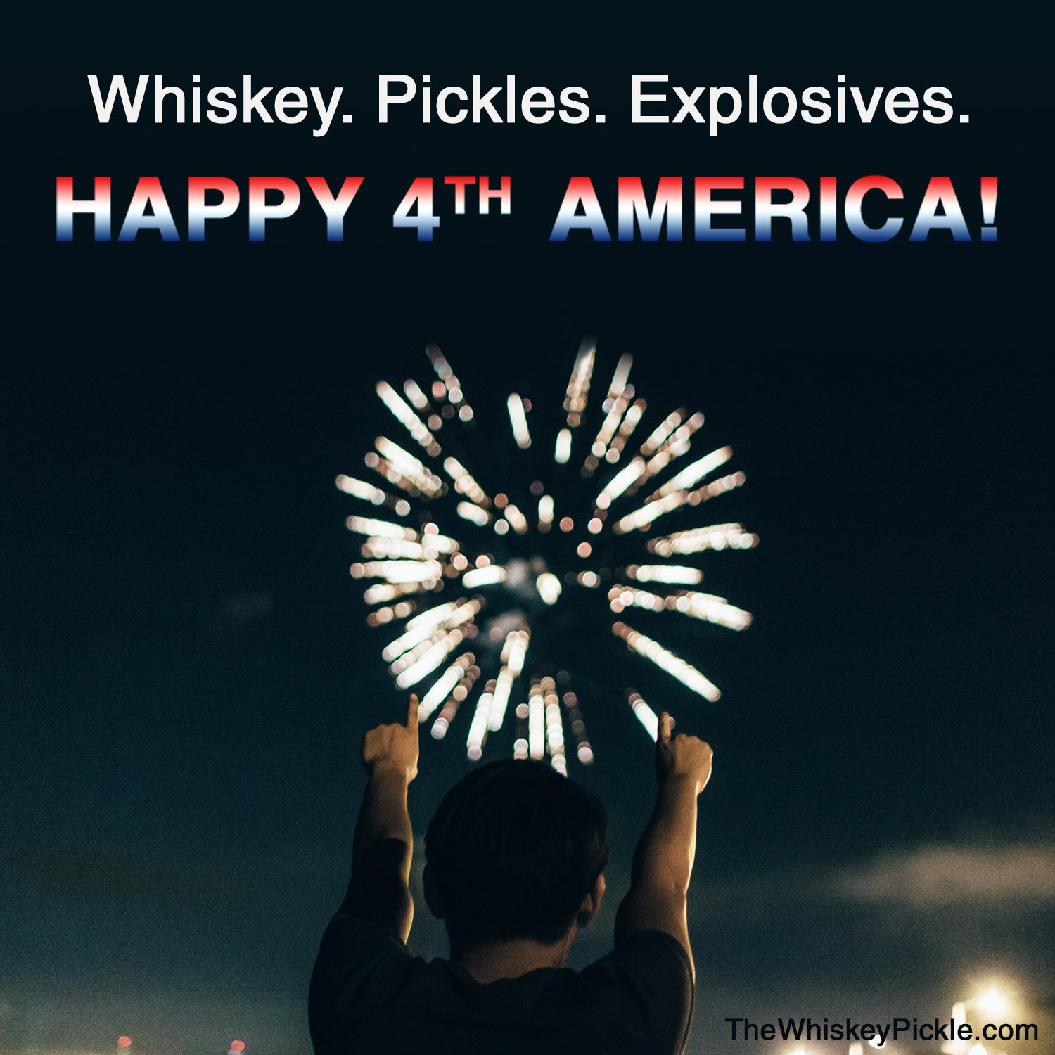 whiskey. pickles. explosives.  Happy 4th!