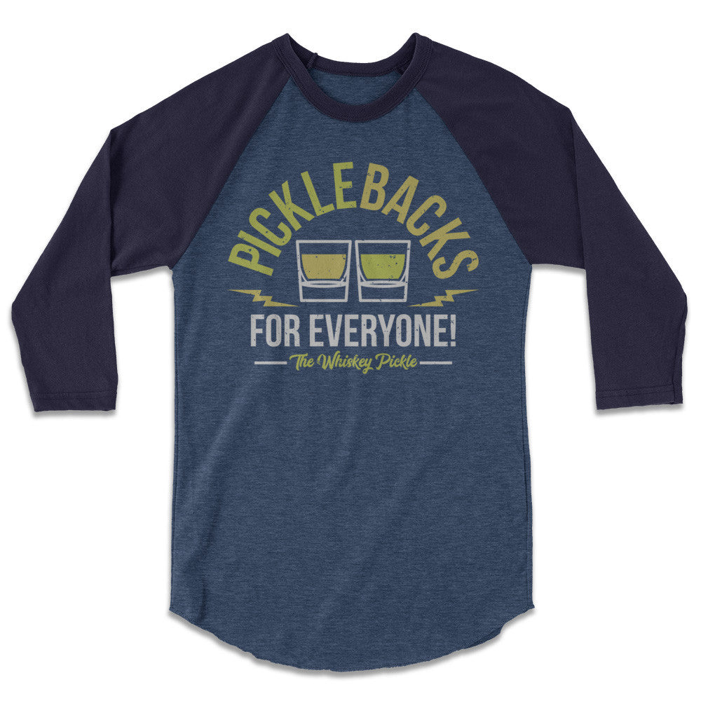 Pickle Shirts - Picklebacks For Everyone! Baseball Tee