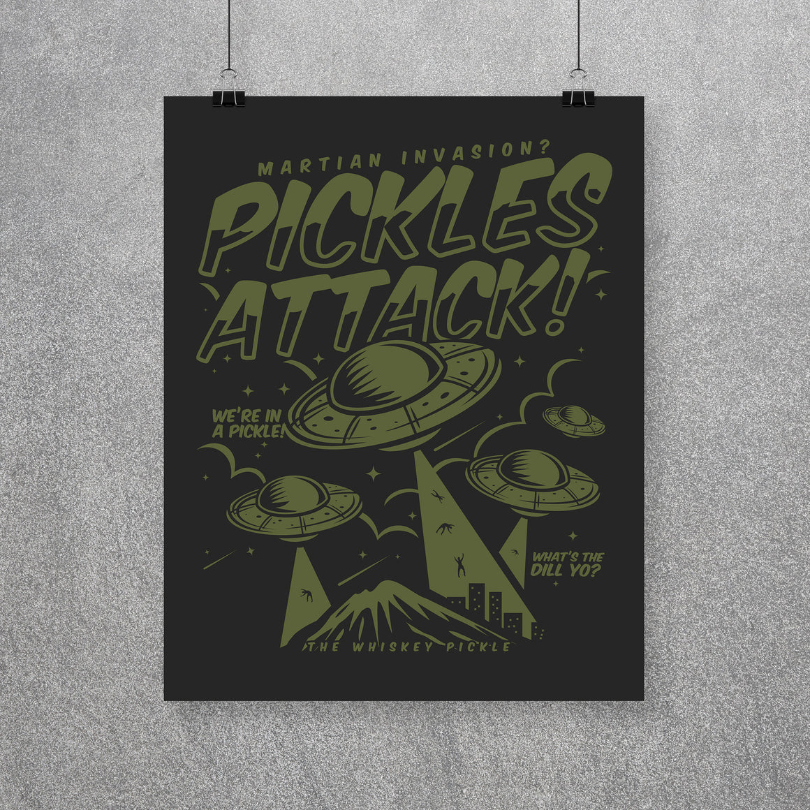 Pickle Shirts - Pickles Attack! Wall Art