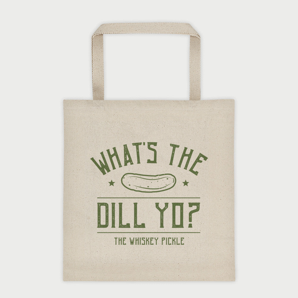 Pickle Shirts - What's The Dill Yo? Canvas Tote Bag