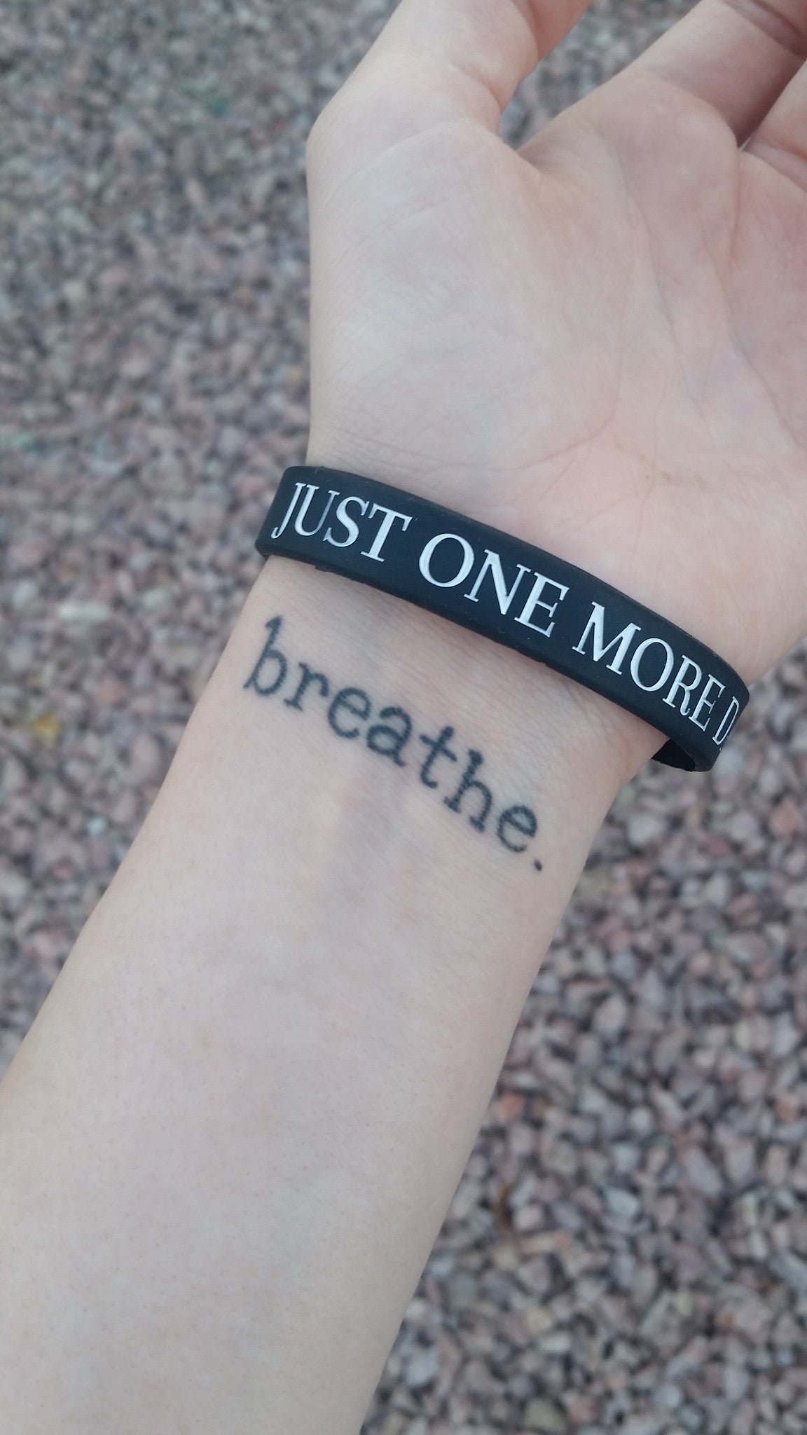 """JUST ONE MORE DAY"" Suicide Prevention Bracelet ♥ - Underlying Beauty - 7"