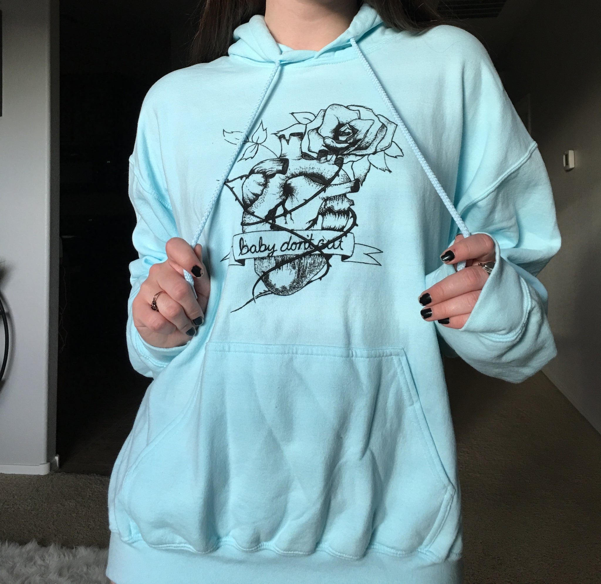 Blue Baby Don't Cut Hoodie