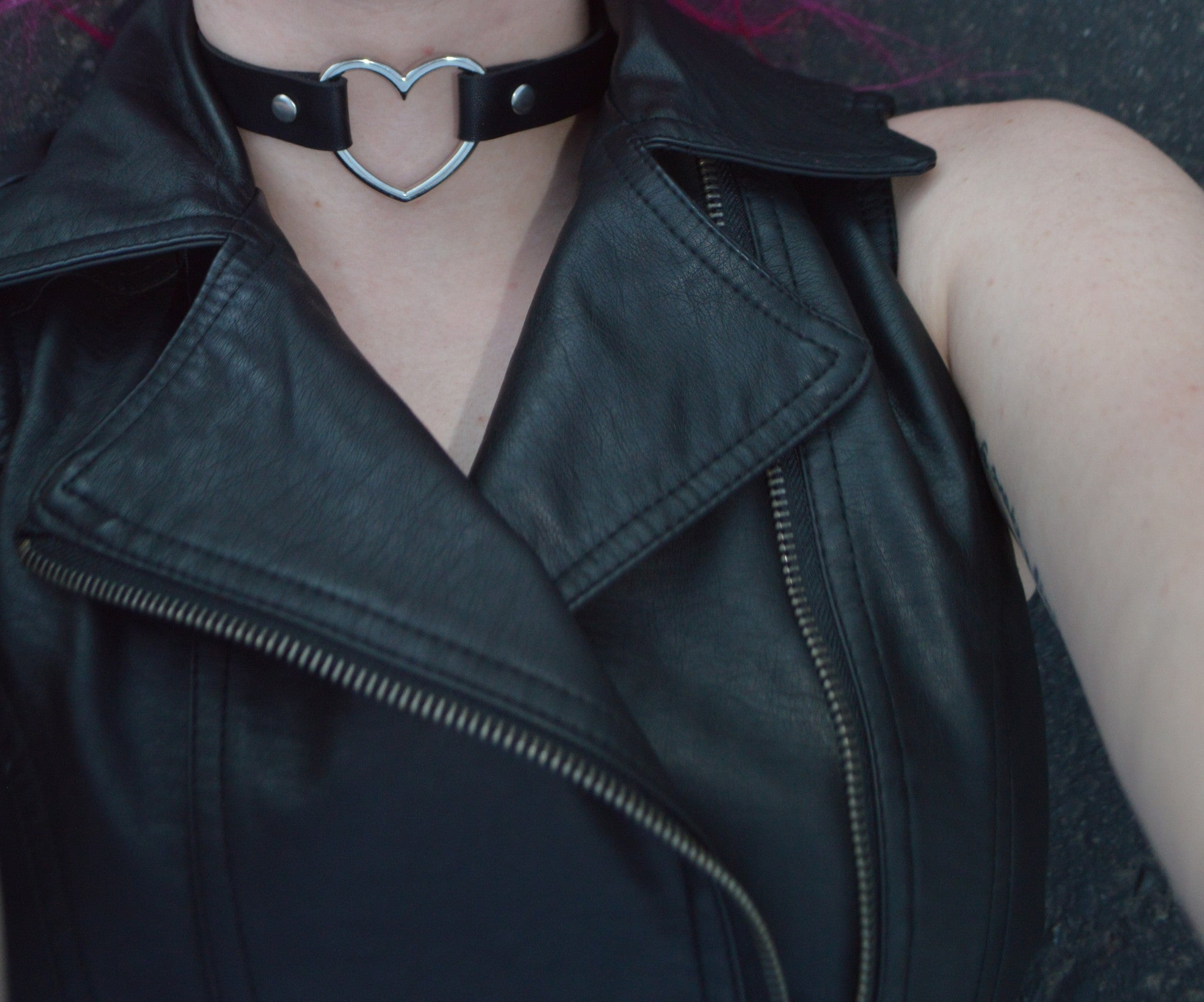Leather Heart Choker/Collar ♥ - Underlying Beauty - 1