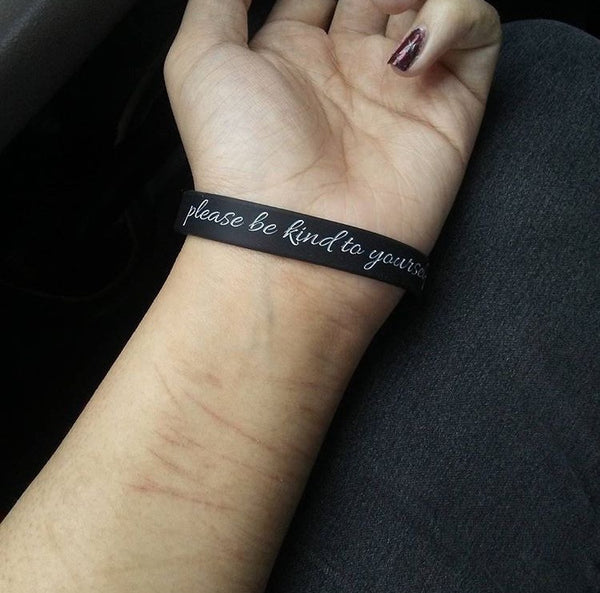"""please be kind to yourself today."" Self Love Bracelet ♥ - Underlying Beauty - 4"