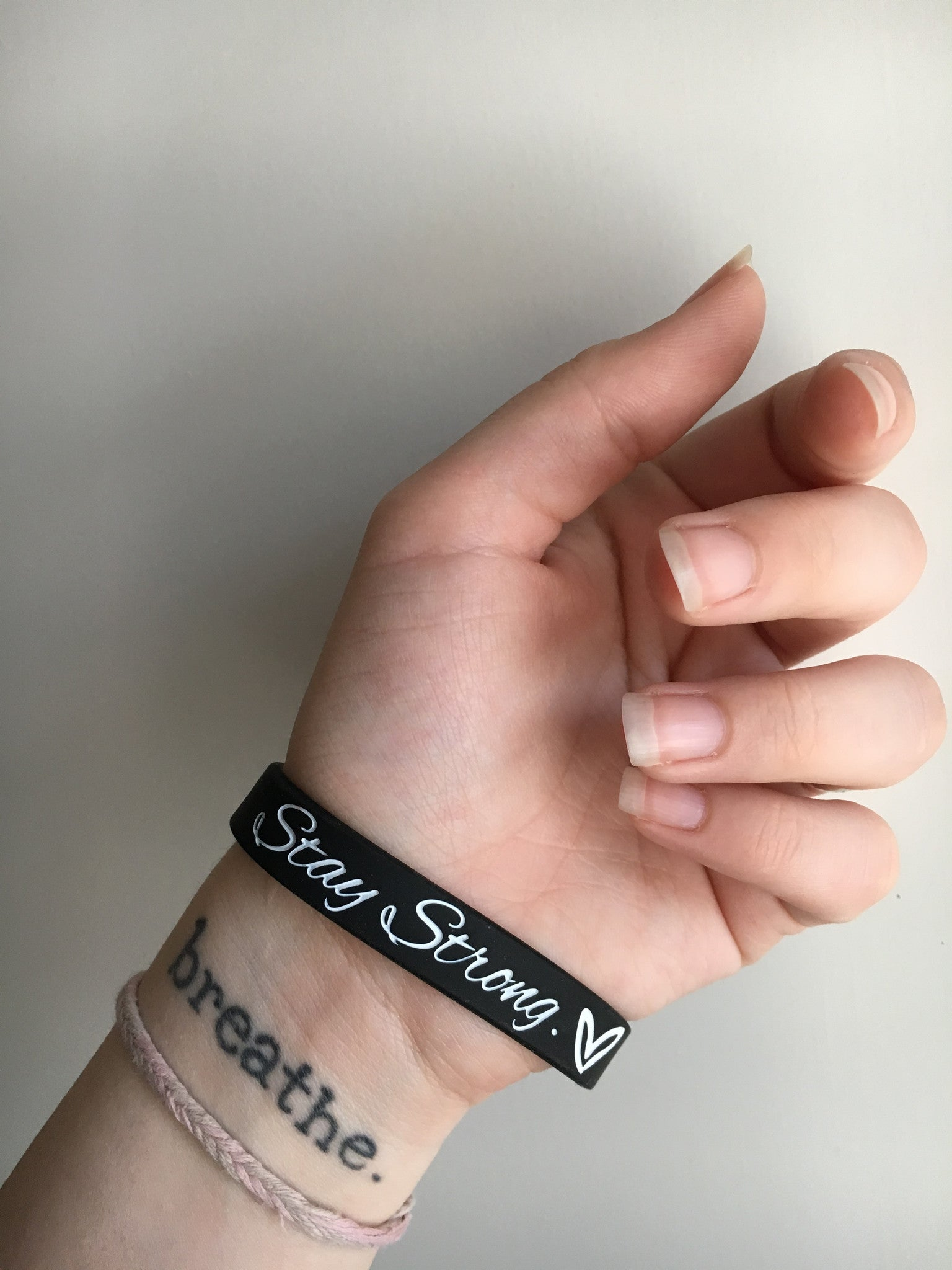 """Stay Strong.♡"" Self Harm Prevention Bracelet ♥ - Underlying Beauty - 4"