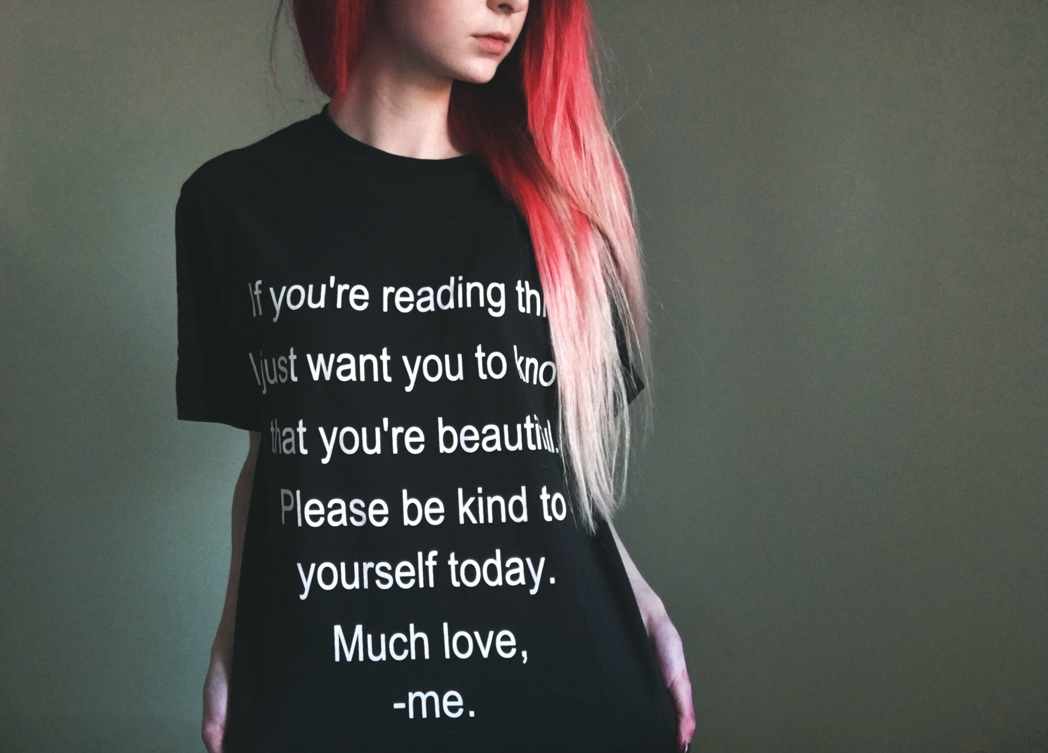 Self Harm Prevention/ Self Love Awareness T-shirt ♥ - Underlying Beauty - 1