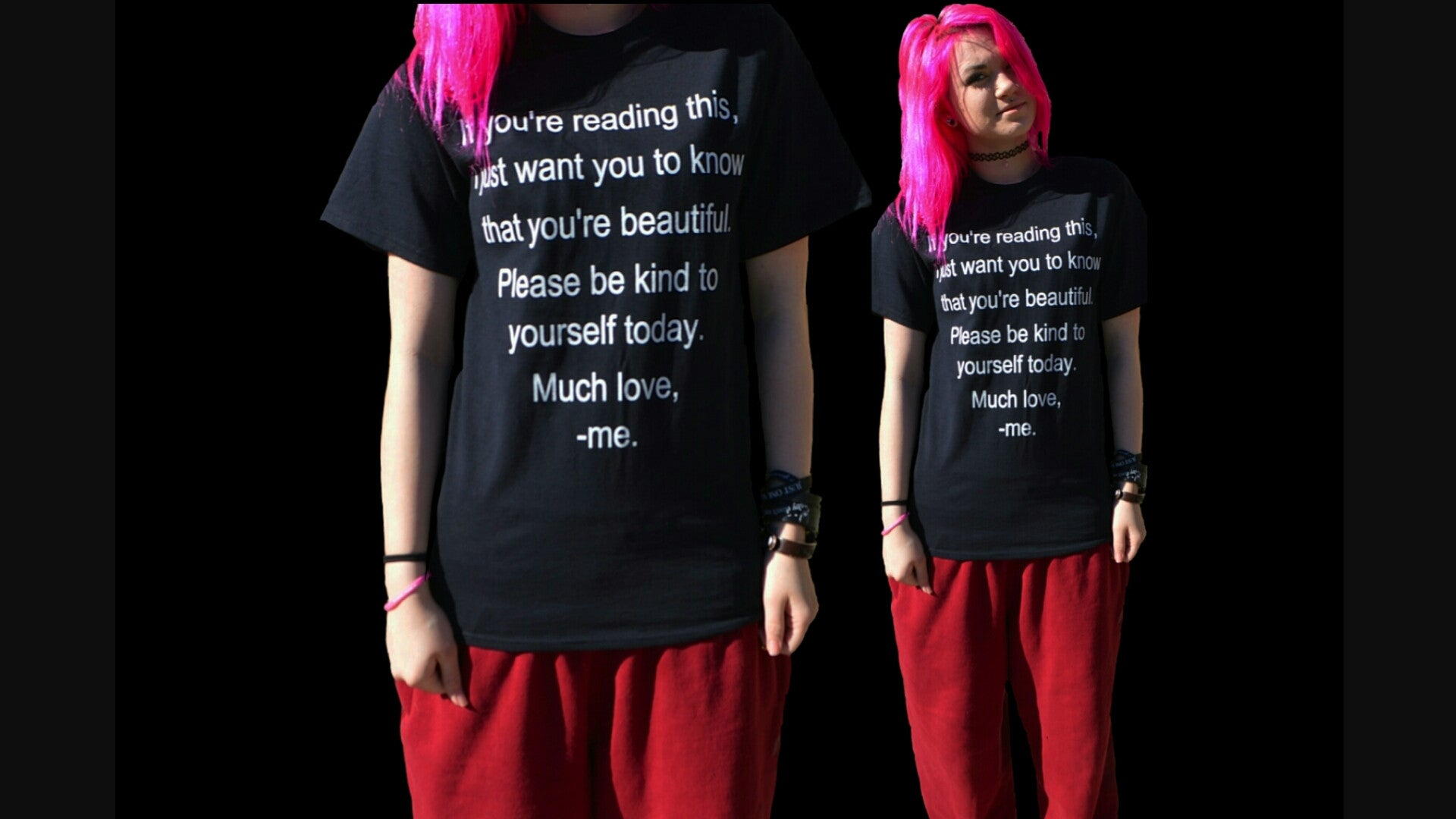 Self Harm Prevention/ Self Love Awareness T-shirt ♥ - Underlying Beauty - 2