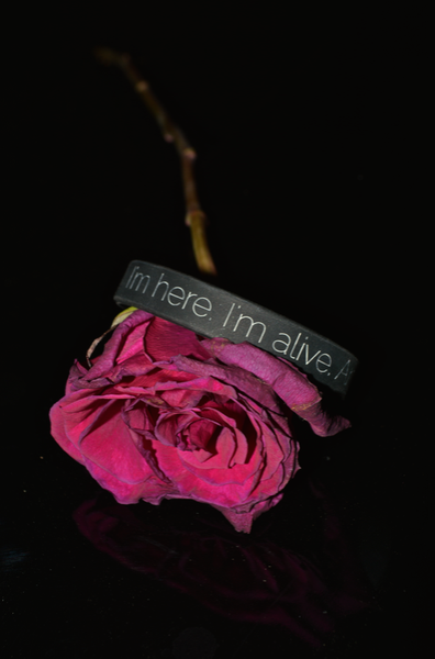 """I'm here. I'm alive. And I'm trying."" Suicide Prevention Bracelet ♥ - Underlying Beauty - 1"