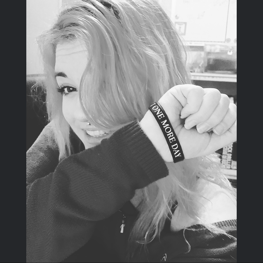 """JUST ONE MORE DAY"" Suicide Prevention Bracelet ♥ - Underlying Beauty - 6"