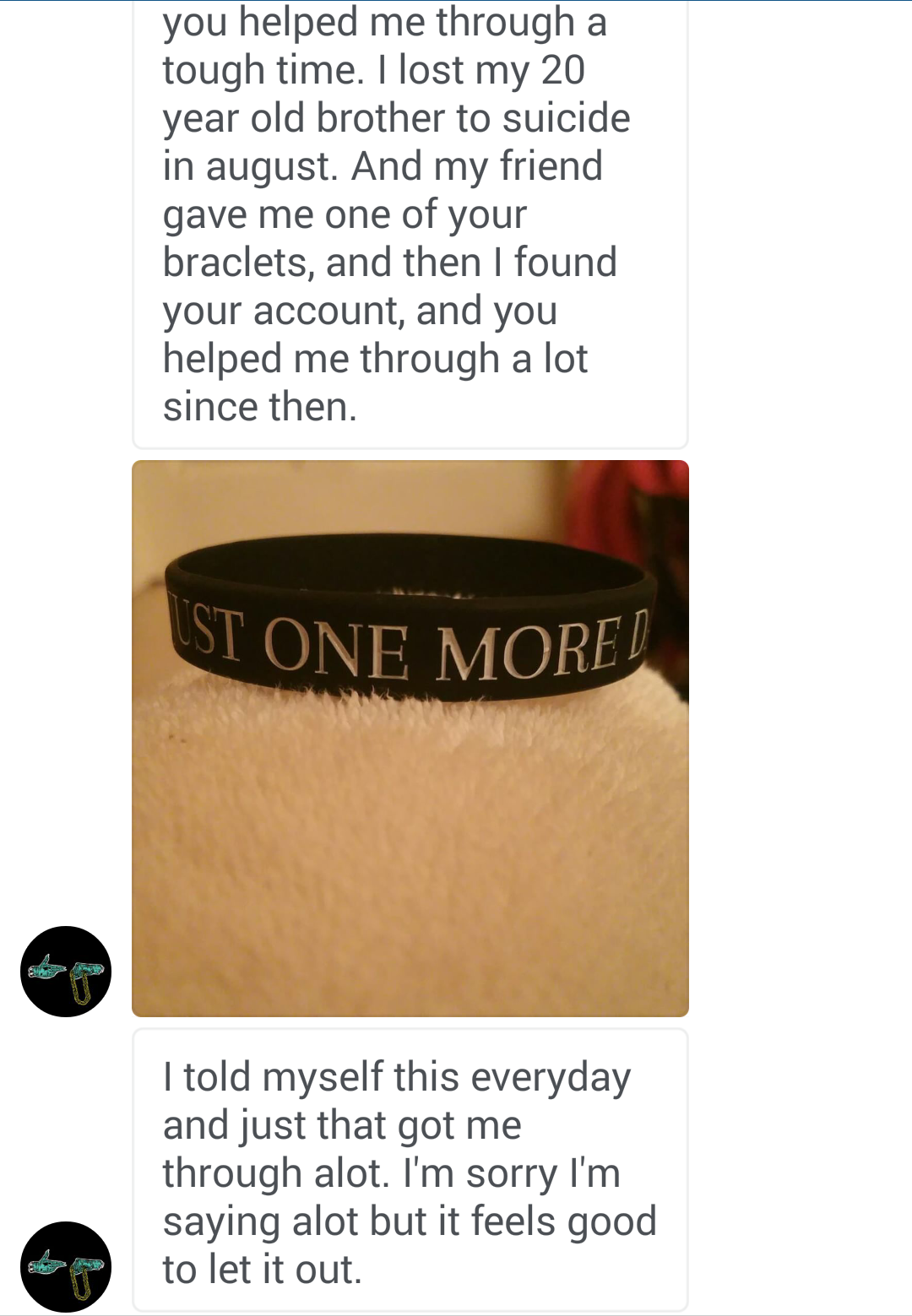 """JUST ONE MORE DAY"" Suicide Prevention Bracelet ♥ - Underlying Beauty - 4"