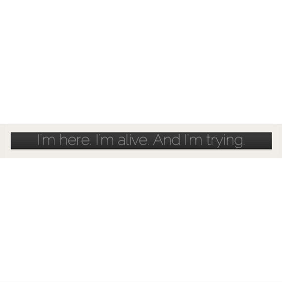 """I'm here. I'm alive. And I'm trying."" Suicide Prevention Bracelet ♥ - Underlying Beauty - 3"