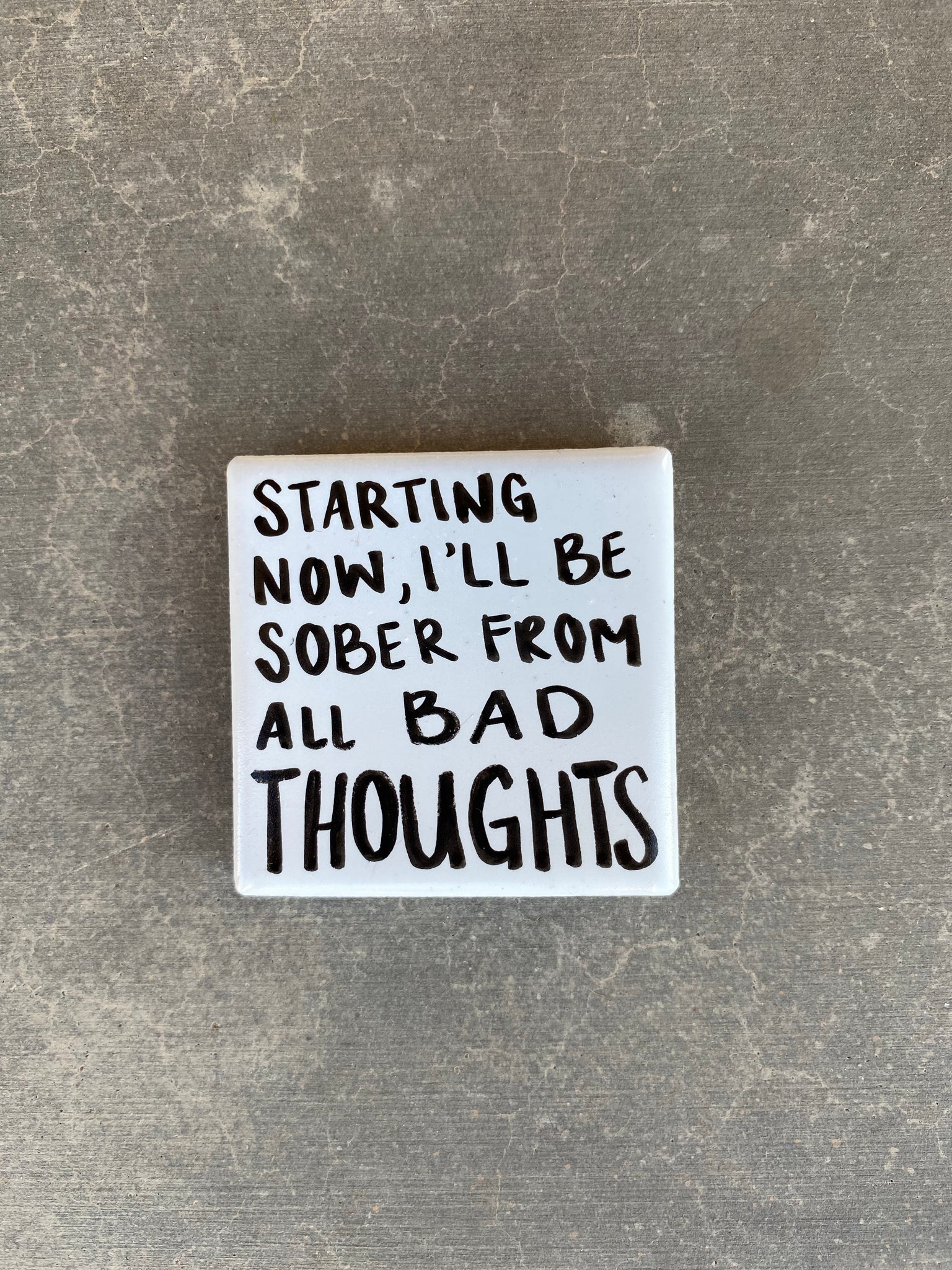 Positive support / comfort object. Rare tile magnet | Personalized Keepsake, NA Gift, AA Gift, Therapy Gift, Friend Gift, Sobriety Gifts