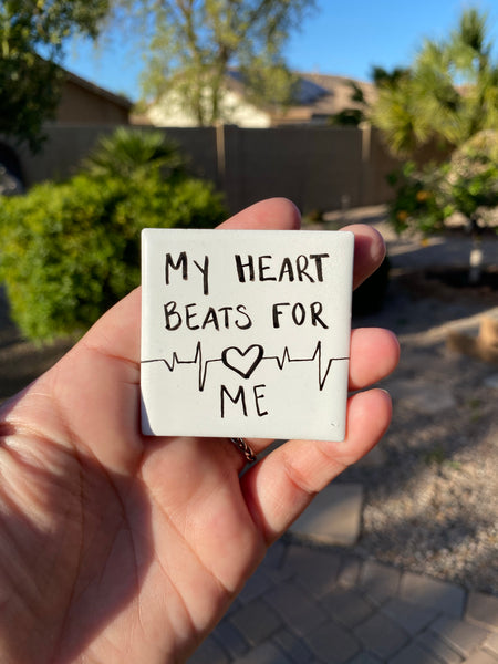 "Always love yourself. Your heart beats for YOU. ""I love myself."" Magnet for self love, to remember to love you too. 2020 is your year!"