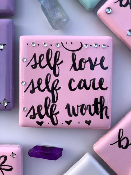 Pink magnet, embrace self love and recovery for self worth