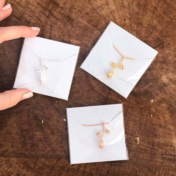 Rose necklace (silver, rose gold, or gold) ⚡️