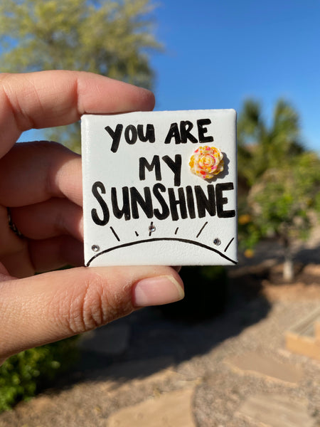 You are my sunshine. Happiness magnet for someone who brightens your day every day. Gift idea, appreciation gift.