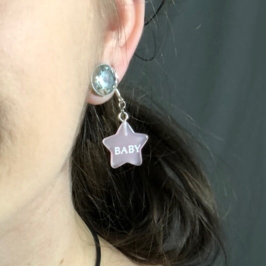 "Pink Star Earrings ""Baby"" ⭐️💕"