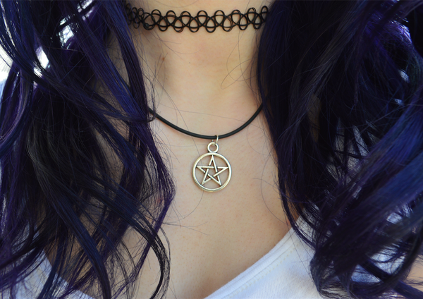 "18"" Pentagram Charm Necklace ♥ - Underlying Beauty - 1"