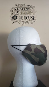 Reversible Filtered Cotton Mask -CAMO3