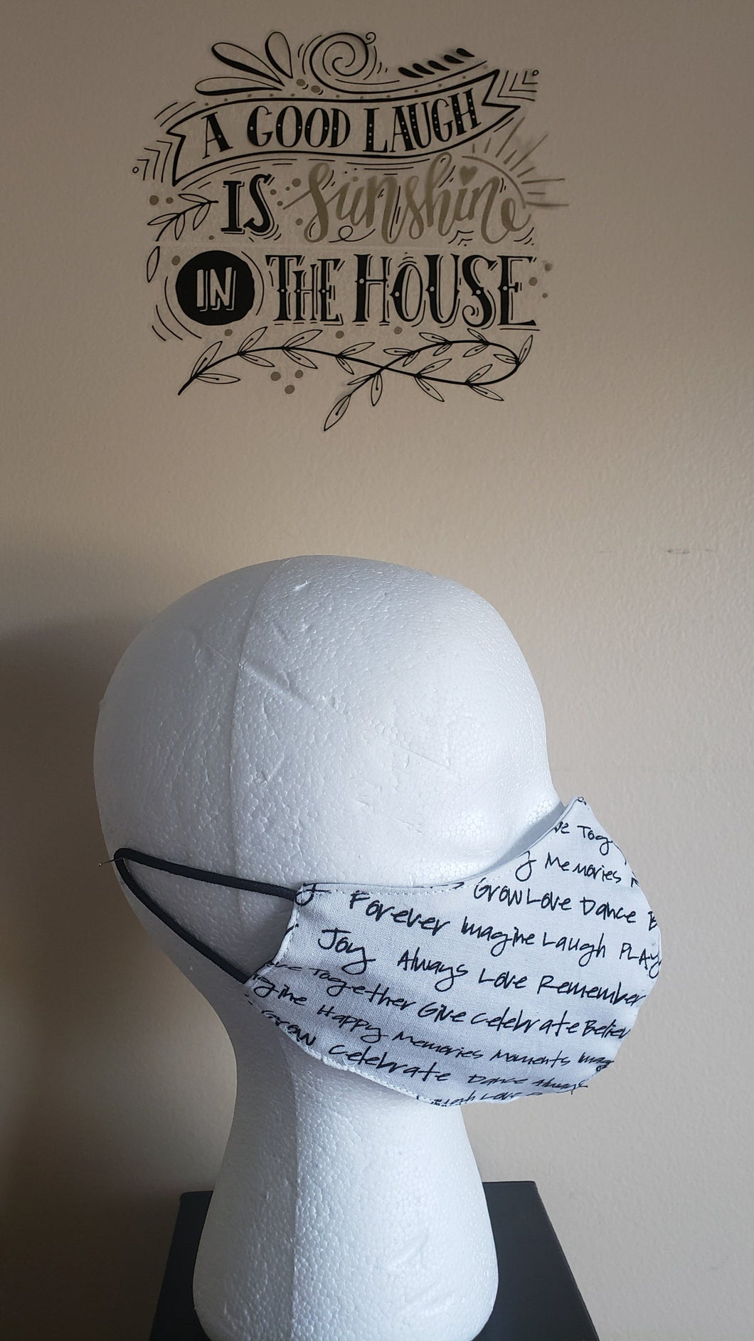 SOLD! NonFiltered Cotton Mask - WORDS