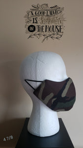 Reversible Filtered Cotton Mask - CAMO