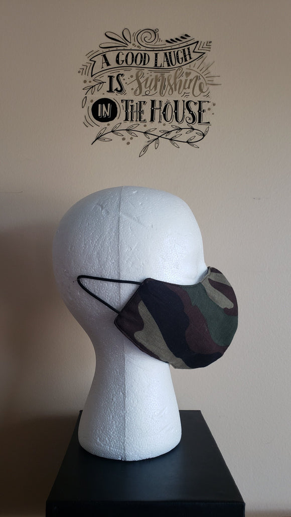 Reversible Filtered Cotton Mask -CAMO2