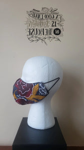 Reversible Filtered Cotton Mask - DARKROSE