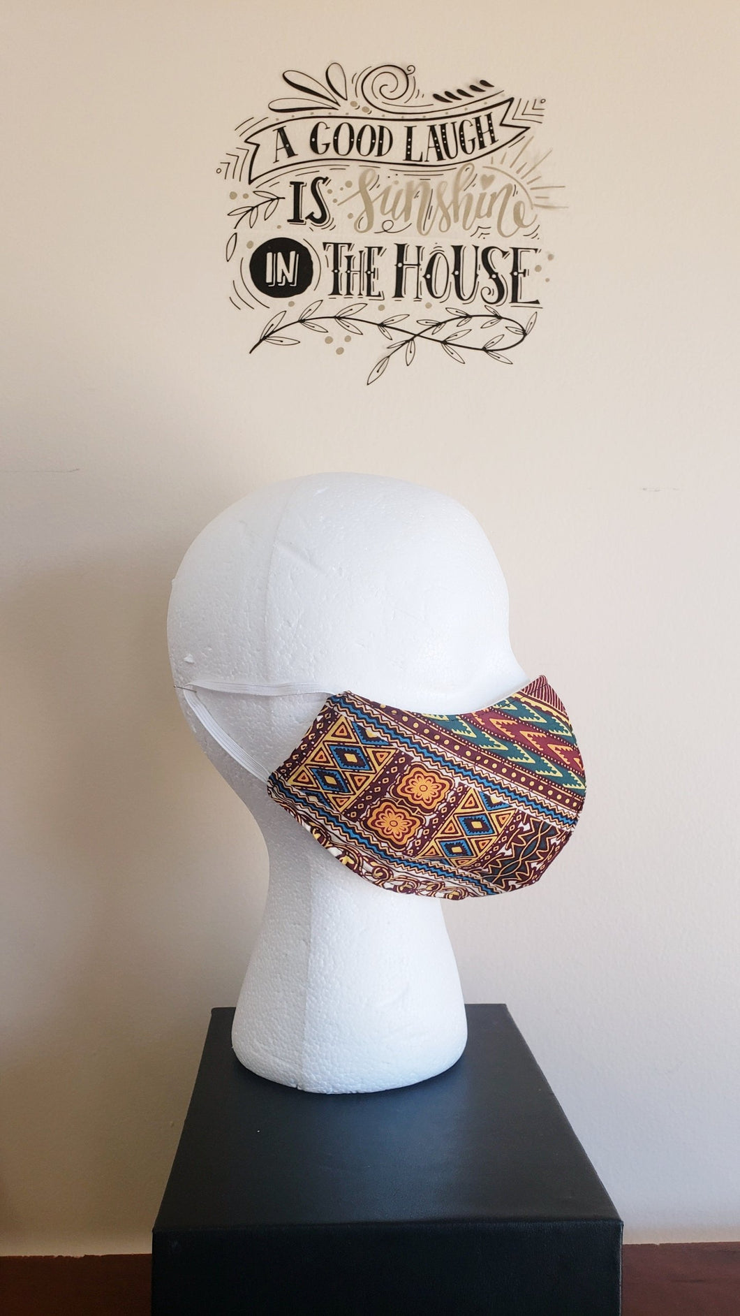 SOLD! NonFiltered Cotton Mask - DashikiWine2