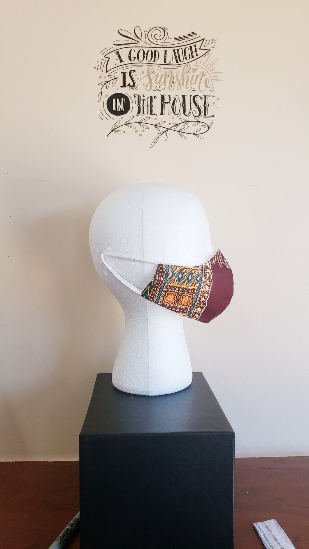 SOLD! NonFiltered Cotton Mask - DashikiWine