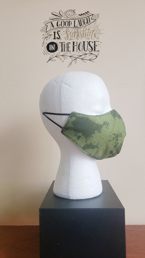 Reversible Filtered Cotton Mask -CAMO4