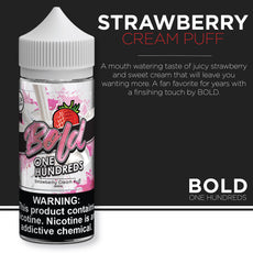 Bold One Hundreds - Strawberry Cream Puff 100ml