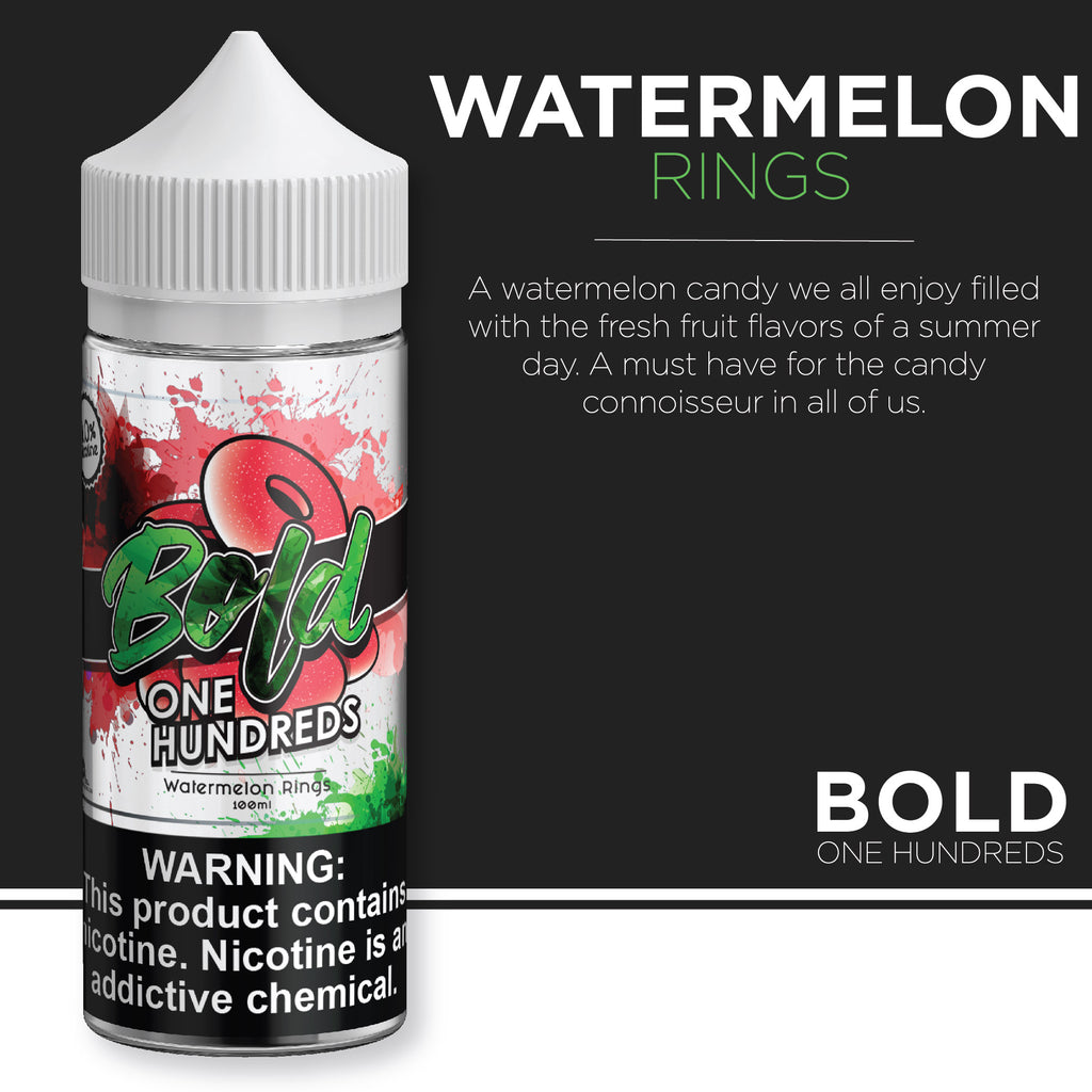 Bold One Hundreds - Watermelon Rings 100ml