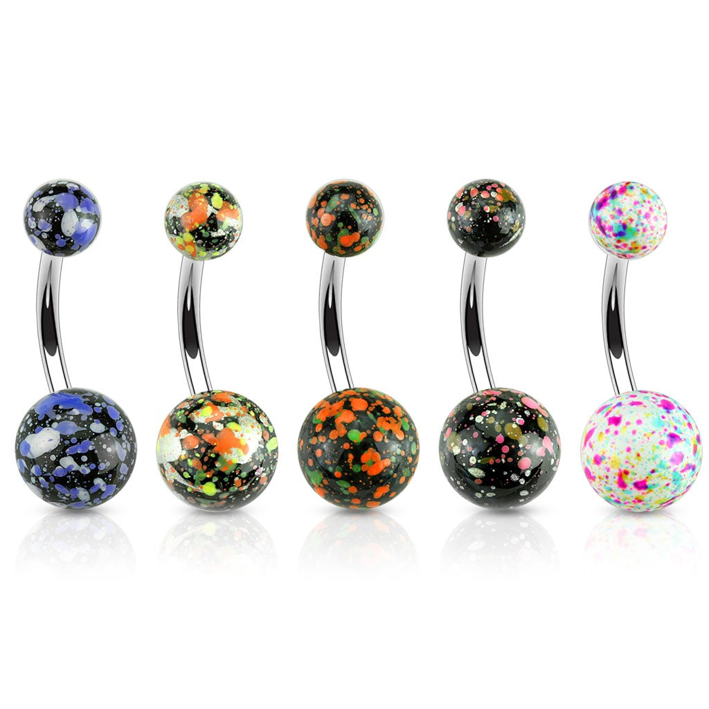 Splatter Ball Navel Ring