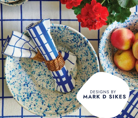 Design by Mark D Sikes. Dishware, Napkins & More