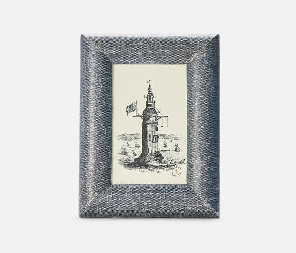 Cardiff Frame - Metallic Denim Faux Linen