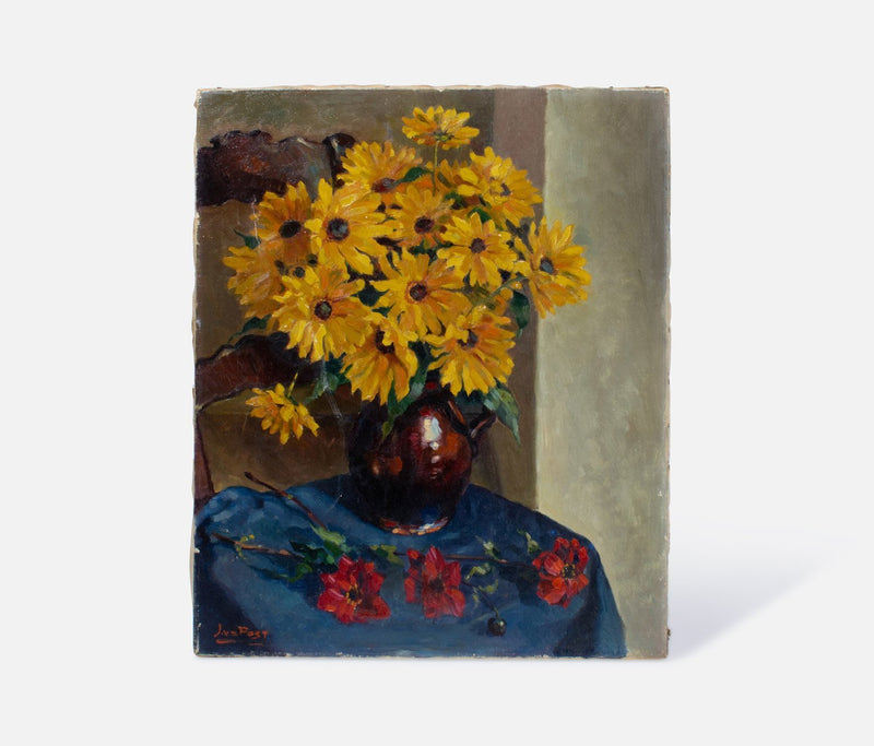 Floral Daisies Painting Canvas