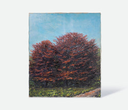 Landscape Big Red Trees Canvas