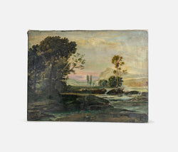 Landscape Trees and Ocean Canvas