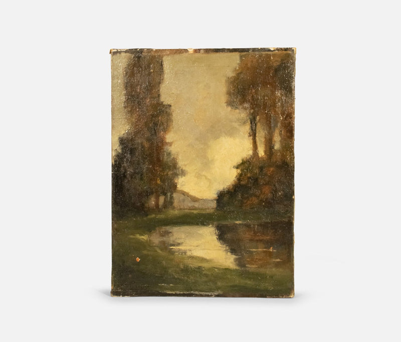 Trees on Stream Canvas