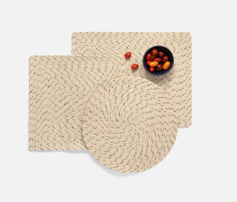 Atticus Placemats - Speckled White